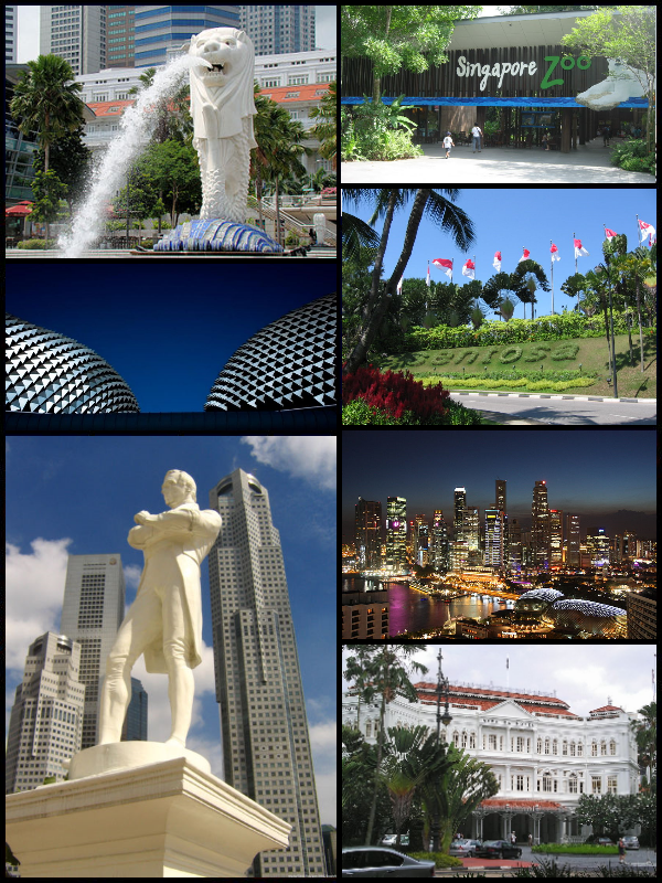 Interesting things to see in SIngapore. Source: Wikipedia